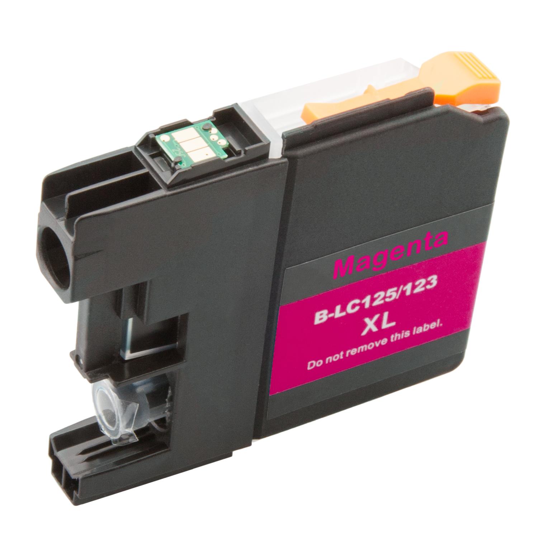 Komp. Tintenp. für Brother LC-121/LC-123/LC-125 | magenta (XL) | mit Chip (V3)