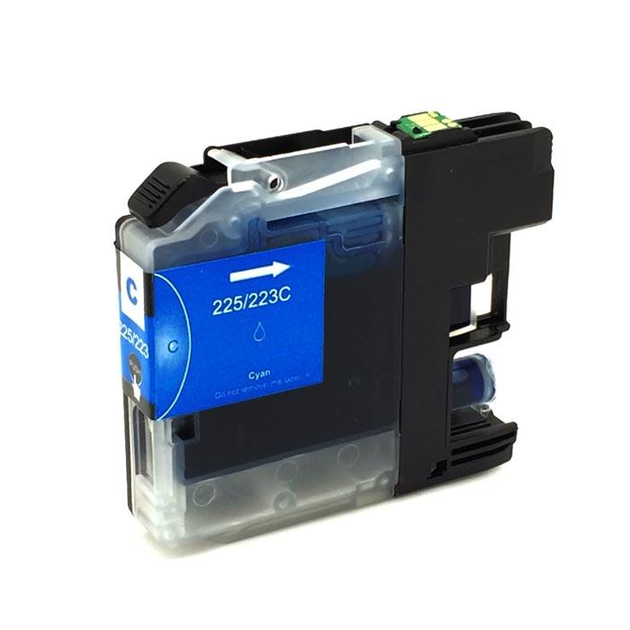 Komp. Tintenpatrone für Brother LC-223/LC-225 | cyan (XL) | mit Chip