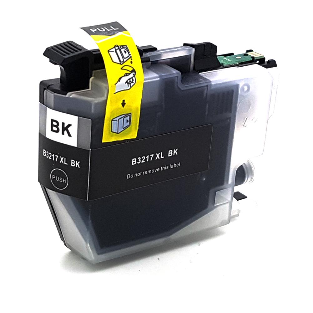 Komp. Tintenpatrone für Brother LC-3217 | black (XL) | mit Chip