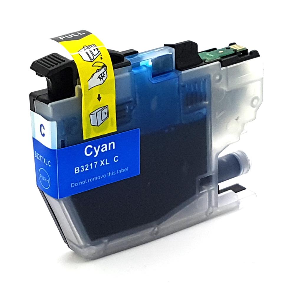 Komp. Tintenpatrone für Brother LC-3217 | cyan (XL) | mit Chip