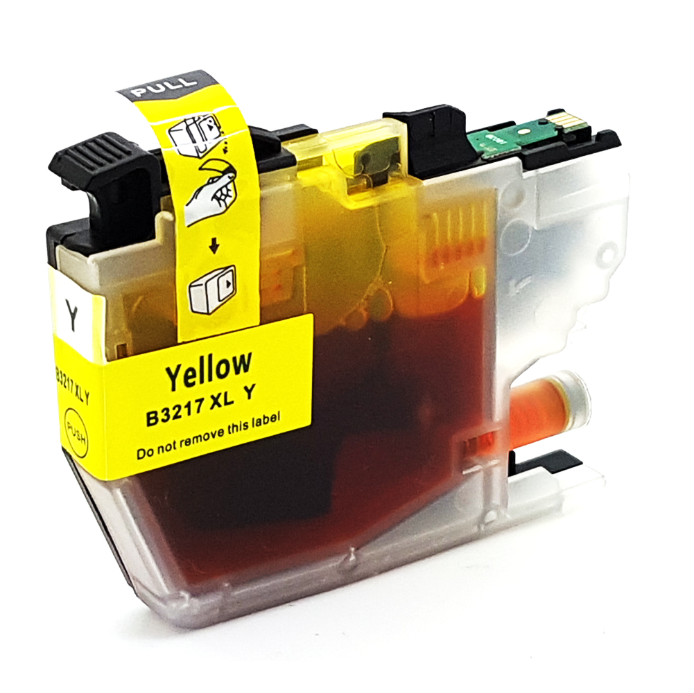 Komp. Tintenpatrone für Brother LC-3217 | yellow (XL) | mit Chip