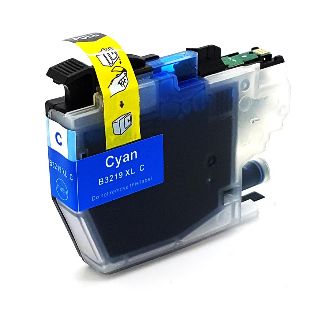 Komp. Tintenpatrone für Brother LC-3219 | cyan (XL) | mit Chip
