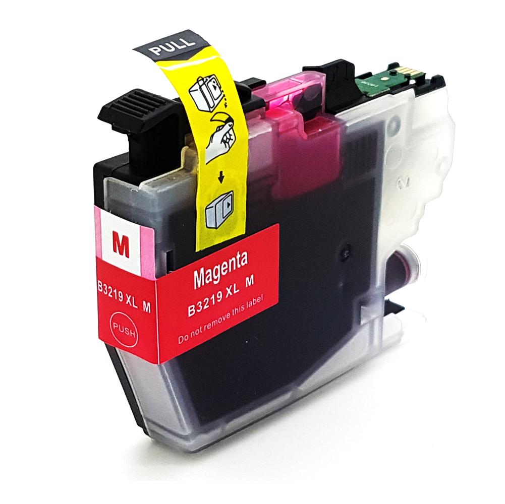 Komp. Tintenpatrone für Brother LC-3219 | magenta (XL) | mit Chip