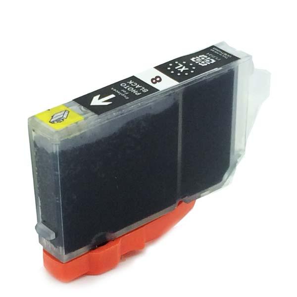 Komp. Tintenpatrone für Canon CLI-8 | black | mit Chip