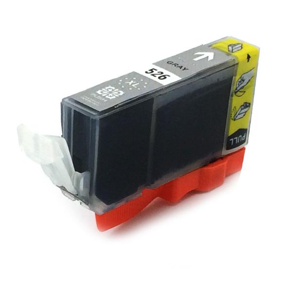 Komp. Tintenpatrone für Canon CLI-526 | grey | mit Chip