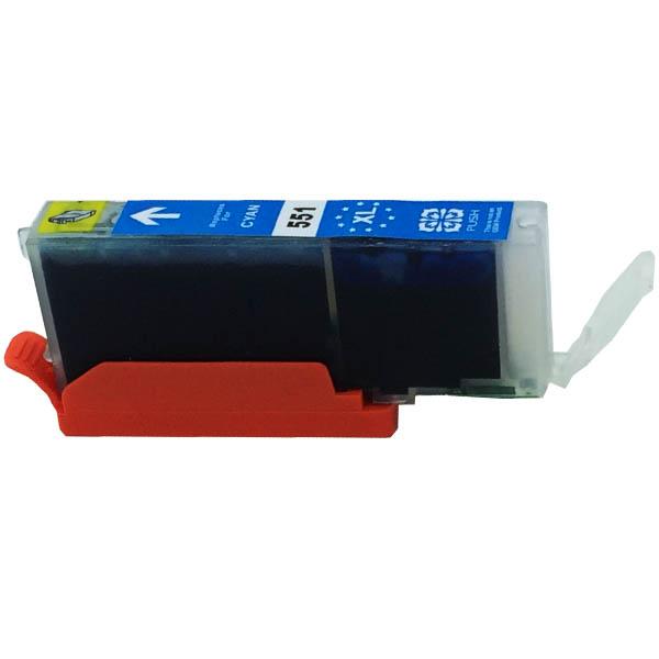 Komp. Tintenpatrone für Canon CLI-551 | cyan | mit Chip