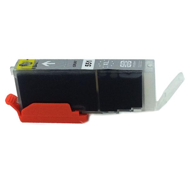 Komp. Tintenpatrone für Canon CLI-551 | grey | mit Chip