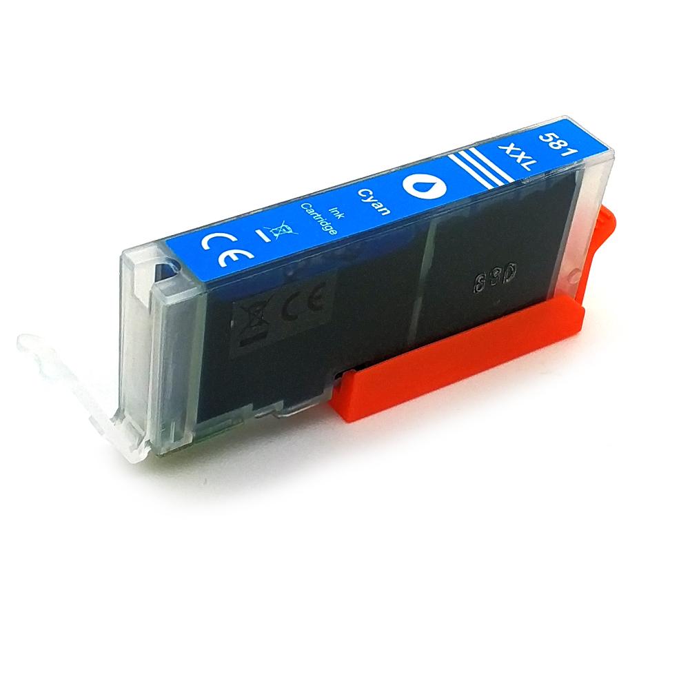 Komp. Tintenpatrone für Canon CLI-581 | cyan | mit Chip