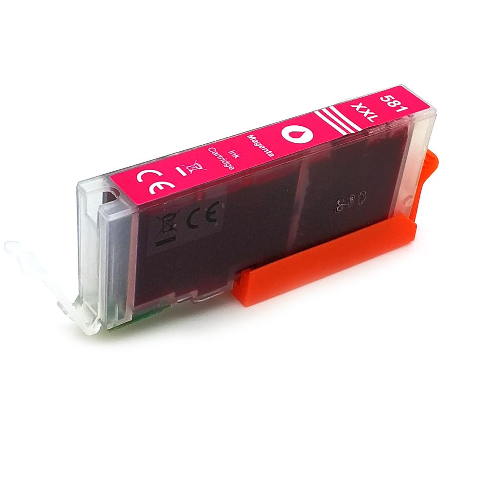 Komp. Tintenpatrone für Canon CLI-581 | magenta | mit Chip