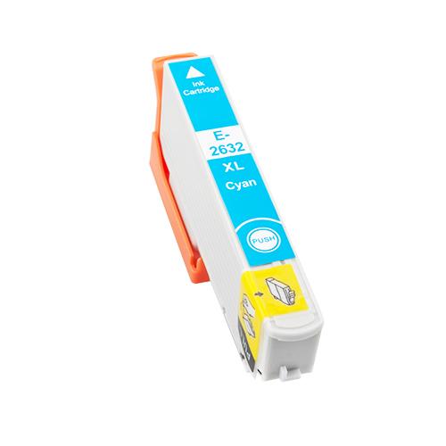 Komp. Tintenpatrone für Epson T2632 | cyan