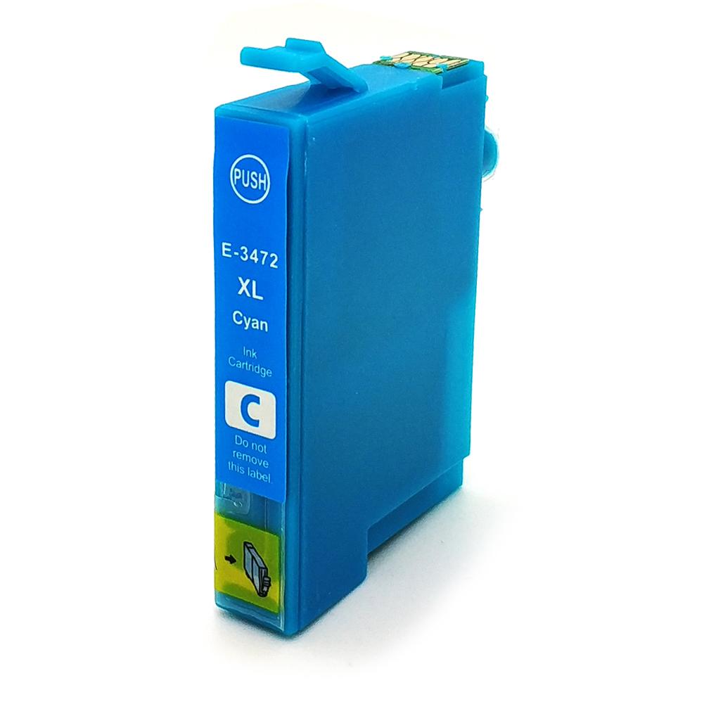 Komp. Tintenpatrone für Epson T3472 | cyan