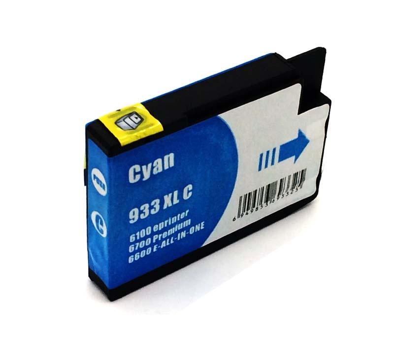 Komp. Tintenpatrone für HP Nr. 933 | CN054AE | cyan (XL) | mit Chip
