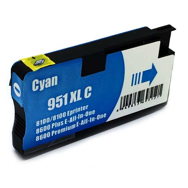 Komp. Tintenpatrone für HP Nr. 951 | CN046AE | cyan (XL) | mit Chip