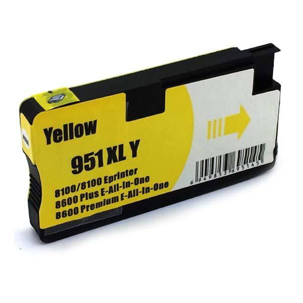 Komp. Tintenpatrone für HP Nr. 951 | CN048AE | yellow (XL) | mit Chip