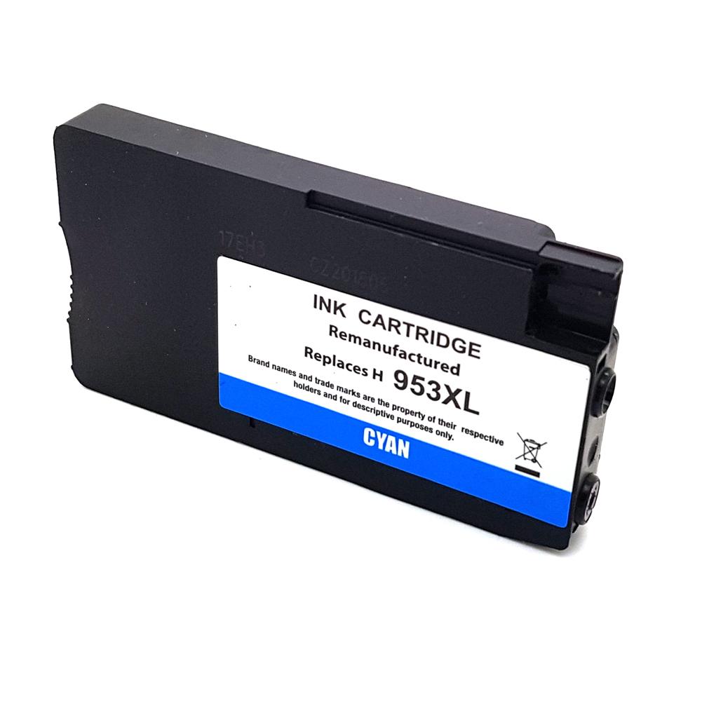 Komp. Tintenpatrone für HP Nr. 953 | F6U16AE | cyan (XL) | mit Chip