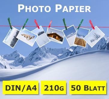 Photo-Glossy Papier | hochglänzend | A4 | 210g | 50 Blatt